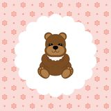 Teddy Bear Baby Vecteur plat Image stock