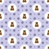 Teddy Bear Baby Vecteur sans joint plat illustration libre de droits