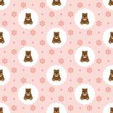 Teddy Bear Baby Vecteur sans joint plat illustration stock