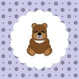 Teddy Bear Baby Vetor liso ilustração royalty free
