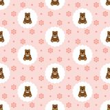 Teddy Bear Baby Vetor sem emenda liso ilustração stock