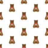 Teddy Bear Baby Vetor sem emenda liso ilustração do vetor