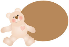 Teddy Bear Background Stock Images
