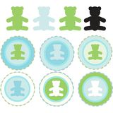 Teddy bear badges Stock Photos