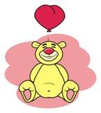 Teddy bear with a ball heart Royalty Free Stock Photo