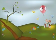 Teddy Bear and Balloon. Animals Royalty Free Stock Photo