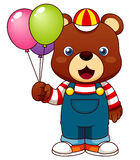 Teddy bear with balloons Stock Photo