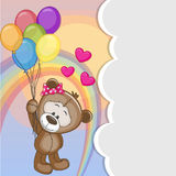 Teddy Bear with balloons Royalty Free Stock Photo
