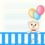 Teddy Bear and balloons Stock Photo