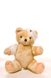 Teddy bear with bandage Stock Photography