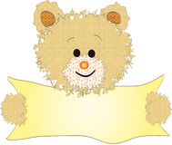 Teddy bear with banner Stock Photography