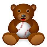 Teddy bear baseball Royalty Free Stock Photography
