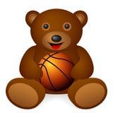 Teddy bear basketball Stock Image