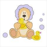 Teddy bear bath time Stock Photography