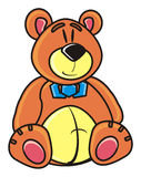 Teddy bear, bear, animal, picture, drawing, muzzle Stock Photo