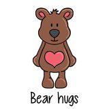 Teddy bear with bih heart Royalty Free Stock Image