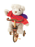 Teddy bear on a bike Royalty Free Stock Photos