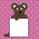 Teddy bear and billboard. Stock Images
