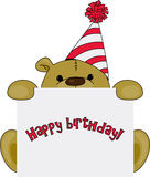 Teddy bear birthday greetings Royalty Free Stock Photography