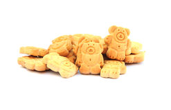 Teddy bear biscuits. Shot of some cute teddy bear biscuits on white Stock Image