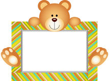 Teddy Bear With Blank Label Fotografie Stock Libere da Diritti