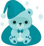 Teddy bear. Blue teddy bear in blue hat Stock Photography