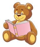 Teddy  bear and book. Teddy bear reading a book. Vector illustration Royalty Free Stock Photography