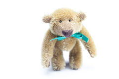 Teddy Bear with bow Stock Image