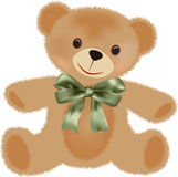 Teddy bear with bow Stock Photos