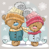 Teddy Bear Boy e ragazza Immagini Stock Libere da Diritti