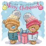Teddy Bear Boy en Meisje stock illustratie