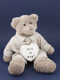 Teddy bear boy with a heart Royalty Free Stock Image