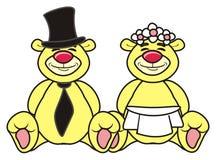 Teddy bear bride and groom Stock Photography