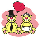 teddy bear bride and groom Royalty Free Stock Image