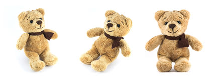 TEDDY BEAR brown color three side Stock Images