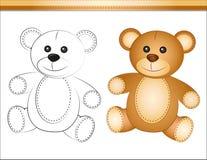 Teddy bear. And brown teddy bear teddy bear coloring Stock Photo