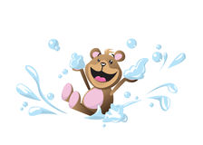 Teddy Bear Bubble Bath Royalty-vrije Stock Foto's