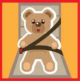 Teddy Bear buckle Up Vector Stock Image