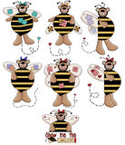 Teddy Bear Bumble Bees 2 Royalty Free Stock Photo