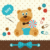 Teddy bear with candy Royalty Free Stock Photo