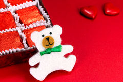 Teddy bear and candy Royalty Free Stock Photo