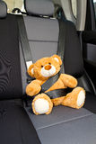 Teddy Bear in a car Royalty Free Stock Images