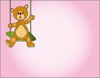 Teddy bear card Royalty Free Stock Image