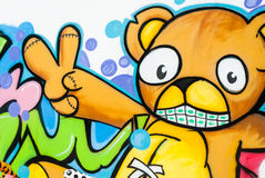 Teddy bear cartoon background Royalty Free Stock Image