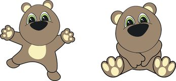 Teddy bear cartoon set. Teddy cartoon set in vector format very easy to edit stock illustration