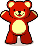 Teddy bear cartoon. Smiling teddy bear  cartoon Royalty Free Stock Image