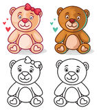 Teddy Bear Character illustration stock