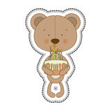 Teddy bear character icon image Royalty Free Stock Image