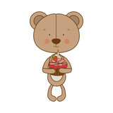Teddy bear character icon image Stock Image