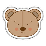 Teddy bear character icon image Stock Photos